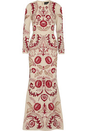 Needle & Thread Tapestry embellished crepe maxi dress