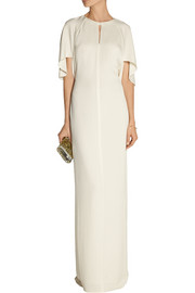 3.1 Phillip Lim Chiffon-paneled crepe maxi dress