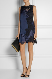 3.1 Phillip Lim Silk-satin and guipure lace mini dress