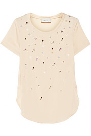 3.1 Phillip Lim Embellished stretch-silk georgette top