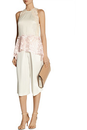 3.1 Phillip Lim Guipure lace and mesh top