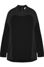 3.1 Phillip Lim Chiffon-paneled silk-satin top