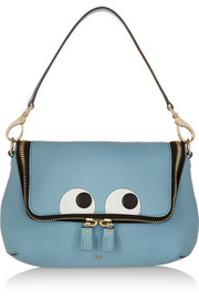 Anya Hindmarch Maxi Zip embossed textured-leather shoulder bag