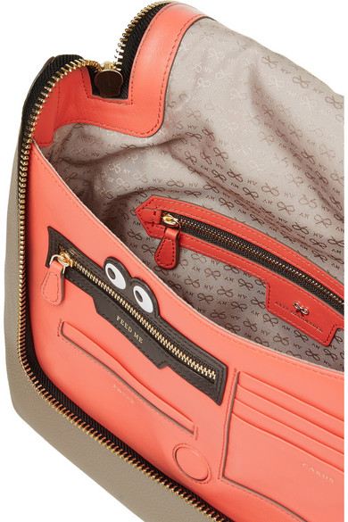 Anya Hindmarch Maxi Zip Textured Leather Shoulder Bag