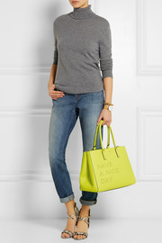 Anya Hindmarch Ebury Maxi Featherweight neon textured-leather tote
