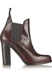 Stanton polished-leather ankle boots