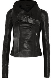 Eliel leather biker jacket