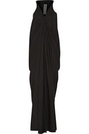 Aurora draped cotton maxi dress