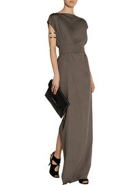 Rick Owens Plain Dagger draped stretch-crepe maxi dress