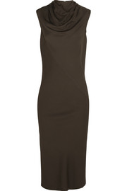 Bonnie draped stretch-crepe dress