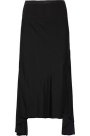 Rick Owens Stretch-cady fishtail skirt