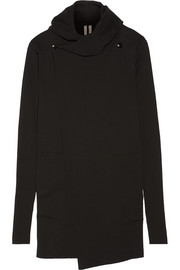 Rick Owens Hooded cotton wrap sweater