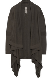 Draped boiled-cashmere cardigan
