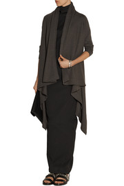 Rick Owens Draped boiled-cashmere cardigan