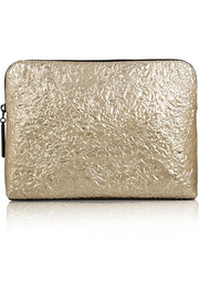 31 Minute Cosmetic Zip textured-leather clutch
