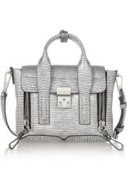3.1 Phillip Lim The Pashli mini metallic textured-leather trapeze bag
