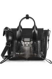 3.1 Phillip Lim The Pashli mini elaphe and leather trapeze bag