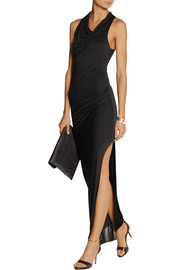 Helmut Lang Draped Micro Modal maxi dress