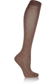 No. 1 metallic knitted knee socks