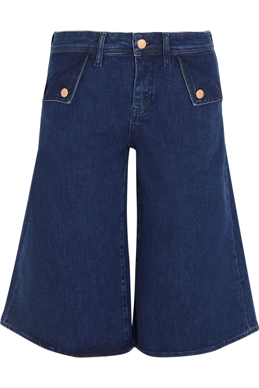 M.i.h Jeans The Kin stretch-denim culottes