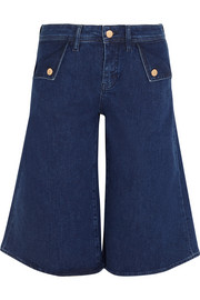 The Kin stretch-denim culottes