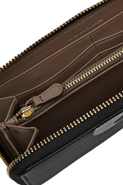 Anya Hindmarch Eyes Down textured-leather continental wallet