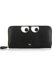 Eyes Down textured-leather continental wallet