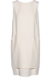 Oscar de la Renta Wool-crepe shift dress