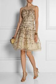 Oscar de la Renta Embellished tulle dress