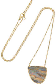 Brooke Gregson 18-karat gold boulder opal necklace
