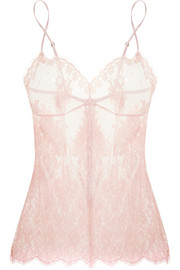 Rosamosario With You In Capri lace-embroidered tulle camisole