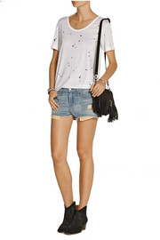 Mila distressed cut-off denim shorts