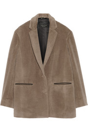 Sigrid suri, alpaca and wool-blend coat