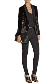 Rag & bone March crepe-trimmed velvet blazer