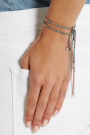 Carolina Bucci Fortune Lucky 18-karat white gold and silk bracelet