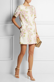 Giambattista Valli Floral-print stretch-crepe mini dress