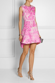 Giambattista Valli Floral-print silk mini dress