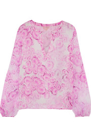 Giambattista Valli Printed silk-georgette blouse