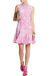 Giambattista Valli Fluted printed silk-georgette dress