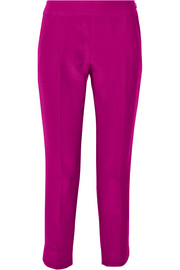 Giambattista Valli Cropped silk and cotton-blend twill tapered pants