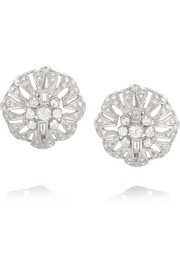 Olivia Collings 1940s 18-karat white gold diamond clip earrings