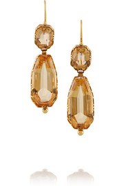 1860s 18-karat gold topaz earrings