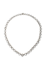 Olivia Collings 1830s silver rock crystal rivière necklace