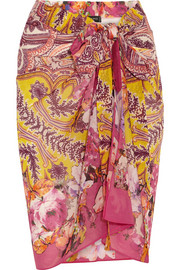 Etro Printed cotton and silk-blend pareo