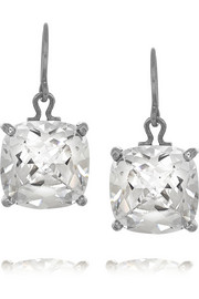 Oxidized sterling silver cubic zirconia earrings