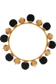 Gold-plated and woven bangle