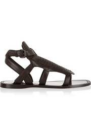 Intrecciato leather sandals