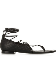Bottega Veneta Embossed leather sandals