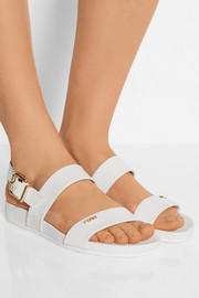 Patent-leather slingback sandals