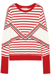 Striped stretch-cotton jersey sweatshirt